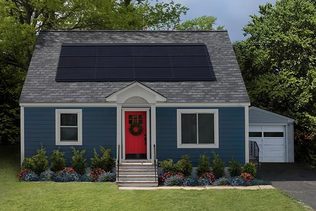Home solar integrated shingle house